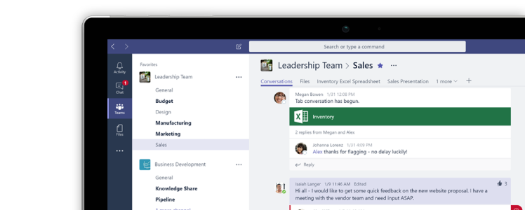 Tela do Microsoft Teams